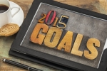 2015 goals - New Year resolution concept - text in vintage lette