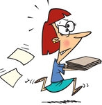 441926-Cartoon-Businesswoman-Running-With-Late-Files