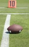 America Football field with ball