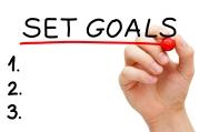 Set Goals Hand Red Marker